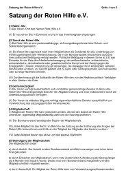 Satzung der Roten Hilfe eV - Rote Hilfe Greifswald