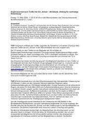 Protokoll der Sitzung vom 10.03.2006 - Bildung für nachhaltige ...
