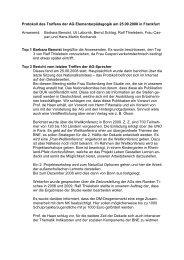 Protokoll der Sitzung vom 25.09.2008 - Bildung für nachhaltige ...