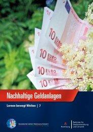 Nachhaltige Geldanlagen - Bildung für nachhaltige Entwicklung