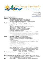 Preise / Angebote 2012 : - Der Sonnige Altmühltaler
