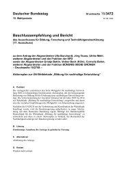 Beschluss des Deutschen Bundestages - Bildung für nachhaltige ...