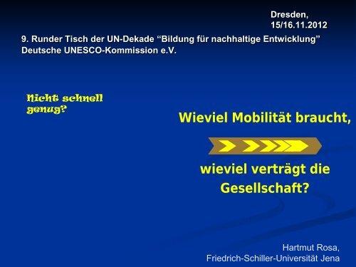 Vortrag von Prof. Dr. Hartmut Rosa - Bildung für nachhaltige ...