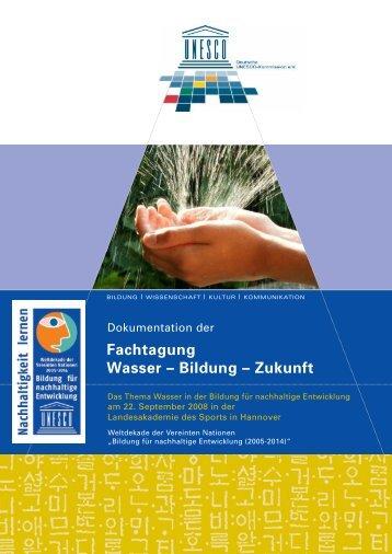 Wasser-Bildung-Zukunft - Bildung für nachhaltige Entwicklung