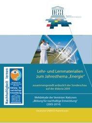 Broschüre Lehr - Bildung für nachhaltige Entwicklung