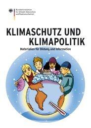 Klimaschutz und Klimapolitik - Bildung für nachhaltige Entwicklung