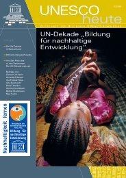 UNESCO heute - UN-Dekade - Bildung für nachhaltige Entwicklung