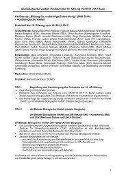 Protokoll der Sitzung vom 19. und 20.01.2012 - Bildung für ...