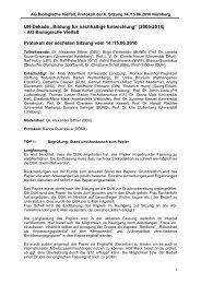 Protokoll der Sitzung vom 14. und 15.06.2010 - Bildung für ...