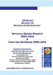 Ausgezeichnete Projekte - Bildung für nachhaltige Entwicklung