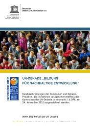 Kurzbeschreibungen von Dekade-Projekten - Bildung für ...
