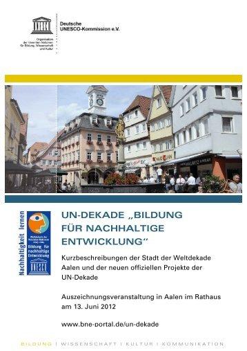 Broschüre - Bildung für nachhaltige Entwicklung