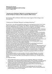 Antwort auf die Große Anfrage zur Umsetzung der - Bildung für ...