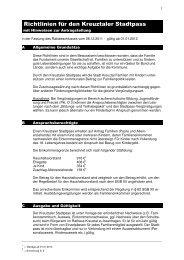 Richtlinien für den Kreuztaler Stadtpass