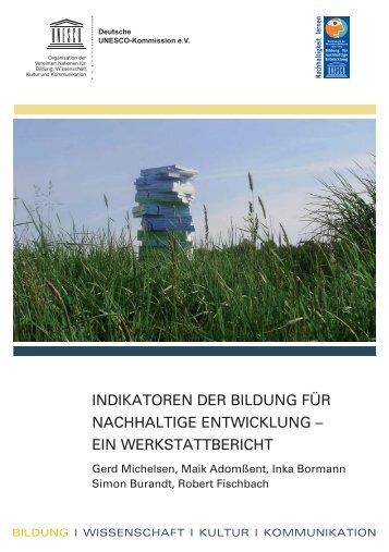 indikatoren der bildung für nachhaltige entwicklung - Unesco