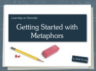 Getting Started with Metaphors - Scott H Young