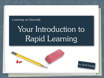 Your Introduction to Rapid Learning - Scott H Young