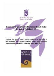caibideil 1 - Scottish Parliament