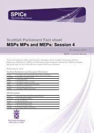 MSPs MPs and MEPs Session 4 - Scottish Parliament