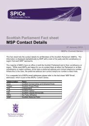 MSP Contact Details - Scottish Parliament