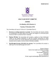 Papers for meeting 13 November 2012 - Scottish Parliament