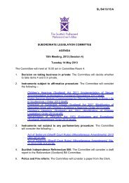 Papers for Meeting 14 May 2013 - Scottish Parliament