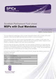 MSPs with Dual Mandates - Scottish Parliament