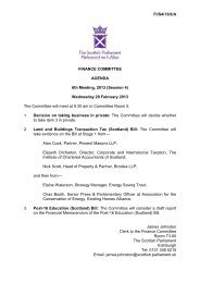 Papers for Meeting on 20 February 2013 - Scottish Parliament