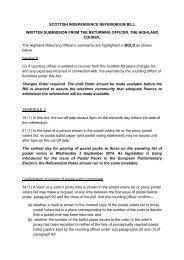 Highland Council (Returning Officer) (17KB pdf) - Scottish Parliament