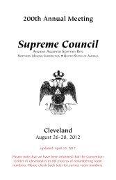 Supreme Council - Scottish Rite