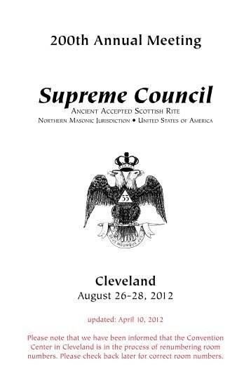 Supreme Council - Scottish Rite