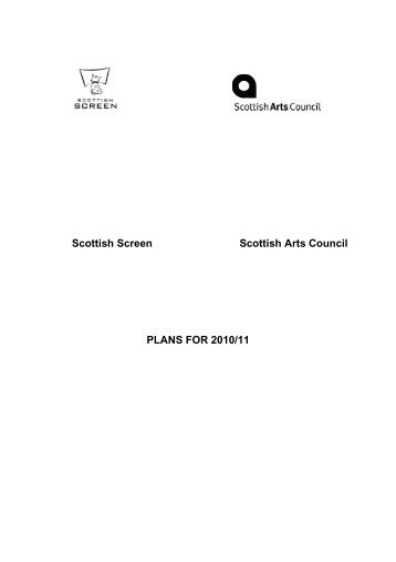 Joint Corporate Plan 2009-2011 - Scottish Screen