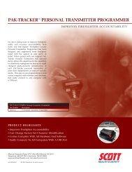 Pak-tracker™ Personal transmitter Programmer - Scott Safety