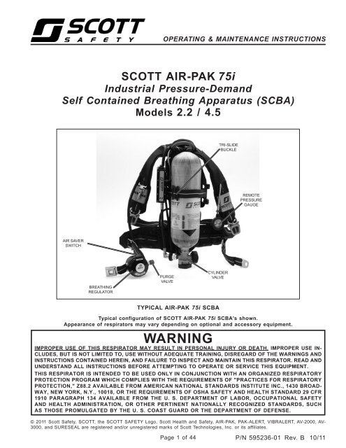 Air-Pak 75i SCBA - User Manual - Scott Safety