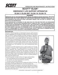 ELSA EEBD - User Manual - Scott Safety