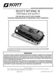 RIT-Pak III - User Manual - Scott Safety