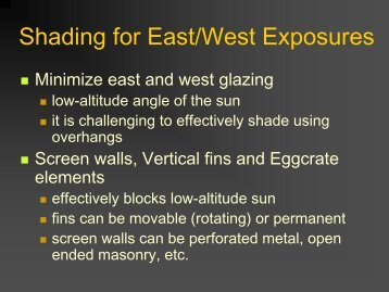 Shading for East/West Exposures - City of Scottsdale