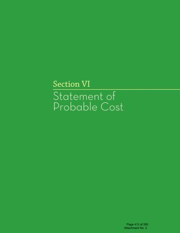 Statement of Probable Cost - City of Scottsdale