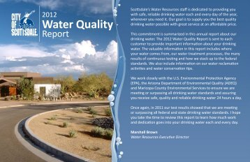 2012 Water Quality Report - City of Scottsdale