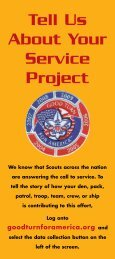 Tell Us About Your Service Project - Boy Scouts of America