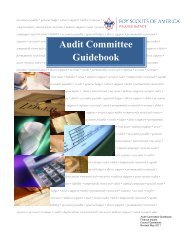 Audit Committee Guidebook - Scouting - Boy Scouts of America