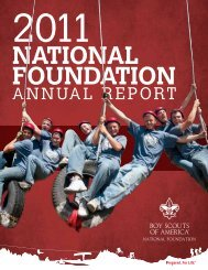 2011 Annual Report for the BSA National Foundation