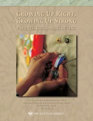 Growing Up Right, Growing Up Strong - Boy Scouts of America