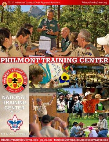 2013 Conference Brochure - Philmont Scout Ranch