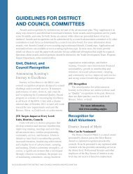 guiDelines foR DistRiCt anD CounCil Committees - Boy Scouts of ...