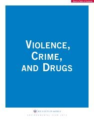 VIOLENCE, CRIME, AND DRUGS