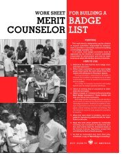 MERIT BADGE COUNSELOR LIST - Boy Scouts of America
