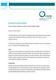 INTERNSHIP ANNOUNCEMENT - CSCP