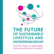 The Future of Sustainable Lifestyles and Entrepreneurship Forum for ...
