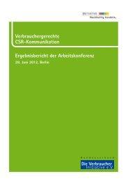 Verbrauchergerechte CSR-Kommunikation Ergebnisbericht der ...